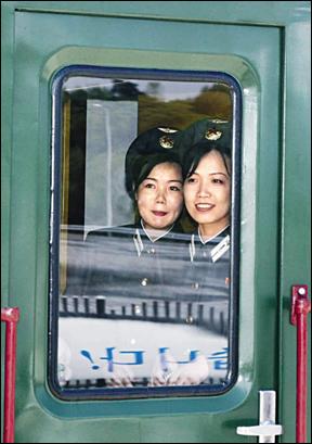 Noord-Koreaans treinpersoneel