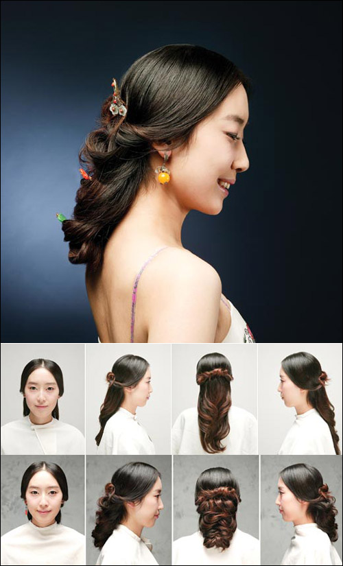 Asian Fusion Weddings Hair Dos For The Korean Wedding Hanbok
