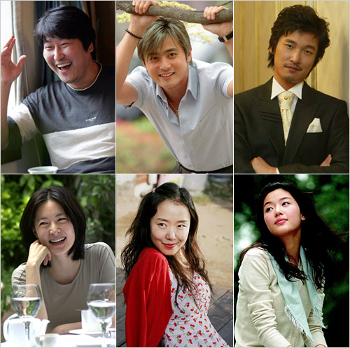 Clockwise from left, Song Kang-ho, Jang Dong-gun, Cho Seung-woo, Jeon Ji-hyun, Jeon Do-yeon and Lee Young-ae