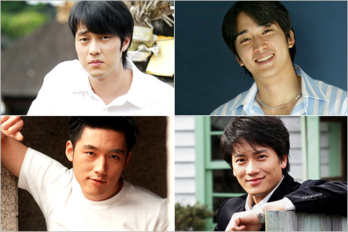 Clockwise from left: So Ji-sup, Song Seung-hun, Ji Seong and Jang Hyeok