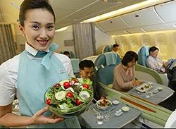 Korean cuisine takes to the skies the chosun ilbo for Asiana korean cuisine restaurant racine