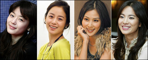 From left, Jeon Ji-hyun, Kim Tae-hee, Ko So-young and Song Hye-kyo