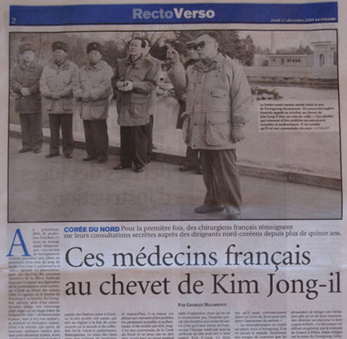 A clipping from Le Figaro headlined 