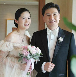Shim Eun-ha and her husband Ji Sang-wook