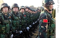 Troops from Chinas Peoples Liberation Army (File)