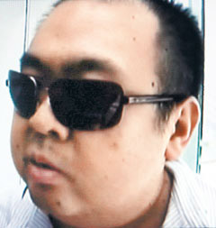 North Korean leader Kim Jong-ils eldest son Jong-nam captured on Nihon TV