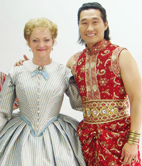 Daniel Dae Kim (right) and Maria Friedman star in the musical 