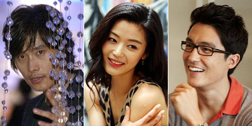 From left, Lee Byun-hun, Jeon Ji-hyun, and Daniel Henney