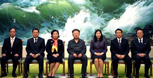 Kim Jong-Il with Hyundai Group Delegation in Pyongyang, November 2 2007