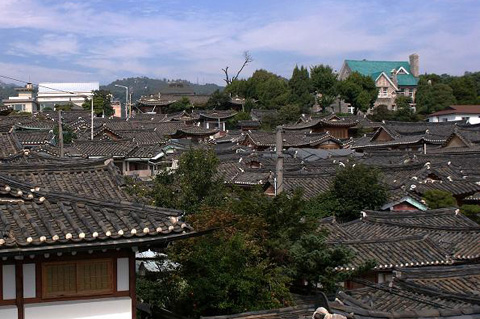 Overview of the Bukchon village /Courtesy of the Seoul Metropolitan Government