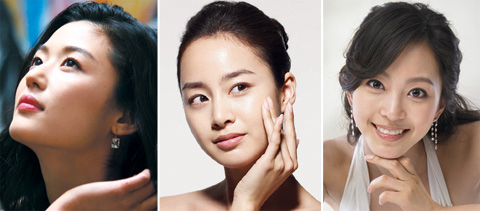 From left, Jeon Ji-hyun, Kim Tae-hee, and Han Ye-seul