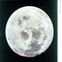 Photo taken by Apollo 8 astronauts as they approached the moon in December, 1968
