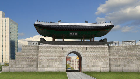 An artists impression of the restored Donuimun /Courtesy of Seoul Metropolitan Government