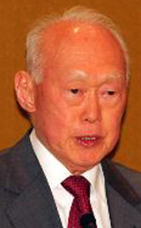 Former Singaporean Prime Minister Lee Kuan Yew