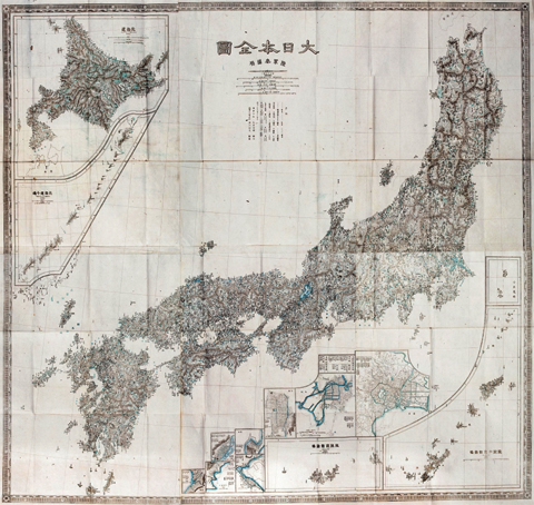 A map produced by the Japanese Army in 1877