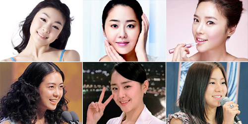 Clockwise from the top left, Kim Yu-na, Ko Hyun-jung, Hwang Jung-eum, Uee, Moon Geun-young and Lee Yo-won