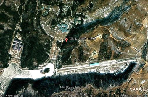 Kim Jong-ils house in Sinuiju /Google Earth