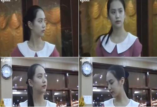 The North Korean woman in this video clip, who works at a North Korean restaurant in Cambodia, has become a celebrity in South Korea due to her resemblance to actress Kim Tae-hee.