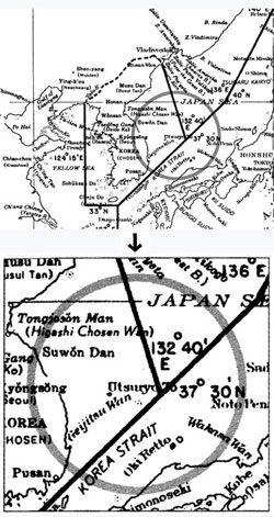 This map drawn up in November 1949 by the U.S. State Department and sent to General MacArthur and the Pentagon shows the Dokdo islets as Korean territory.