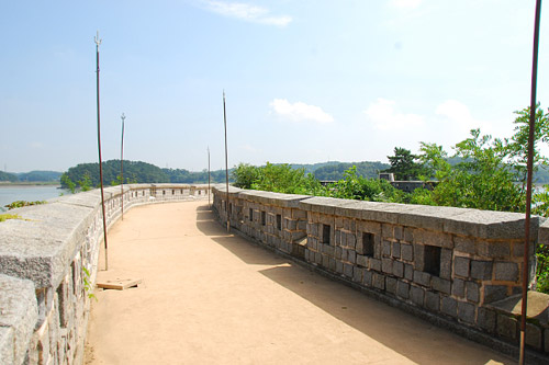 Yongdu fort, the site of heavy exchange of fire during the U.S. expedition to Korea in 1871