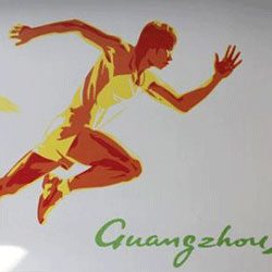 Poster of the Guangzhou Asia Games /AP