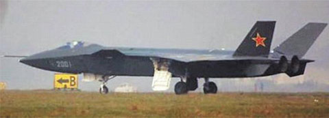 The J-20, Chinas first stealth fighter, which is believed to have begun trial flights /Daily Mail