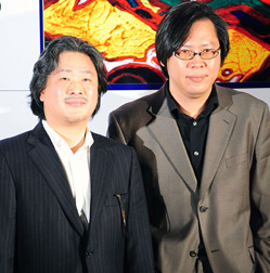 Park Chan-wook (left) and his brother Chan-kyong