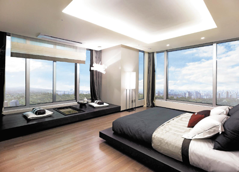 A Bedroom In 171 Sq Model Unit For Asterium Yongsan Seoul Courtesy Of Dongbu Construction