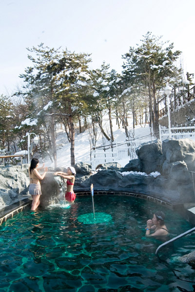 Hot Springs To Beat The Winter Cold The Chosun Ilbo