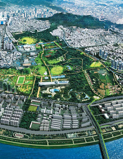 An artists impression of the Yongsan Park