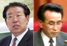 Kim Yong-sam (lefy) and Mun Il-bong