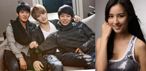 JYJ (left) and Han Hye-jin