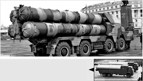 Russias S-300 (top) and North Koreas KN-06