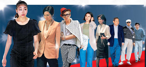 From left, Kim Yu-na, Lee Seo-hyun, G-Dragon, Kong Hyo-jin, Lee Boo-jin, Lee Kun-hee, Kim Yong-ho, and Hong Jung-wook