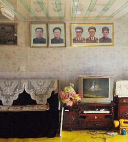 A Korean TV set is seen in a North Korean officials house in the Rajin-Sonbong special economic zone (file photo).