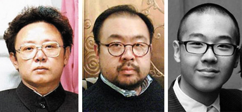 From left, Kim Jong-il, his son Jong-nam, and grandson Han-sol
