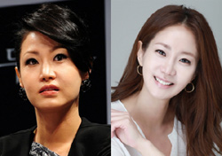 Shin Eun-kyung before (left) and after the surgery