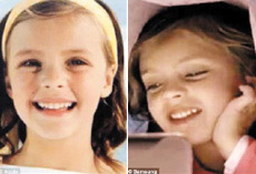 The same girl appears in ads for the Apple iPhone (left) and Samsungs Galaxy Tab (right).