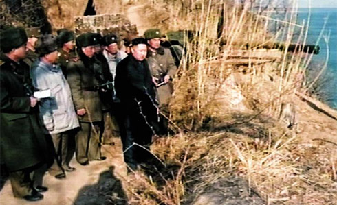 North Korean leader Kim Jong-un inspects a military unit under the 4th Army Corps, in footage released on Sunday by [North] Korean Central TV. /KCTV-Yonhap