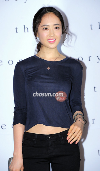 Actress Kim Min-jung poses at a promotional event for a fashion brand in Seoul on Friday.