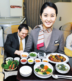 Seasonal vegetables whet appetites on asiana airlines for Asiana korean cuisine restaurant racine
