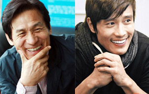 Ahn Sung-ki (left) and Lee Byung-hun