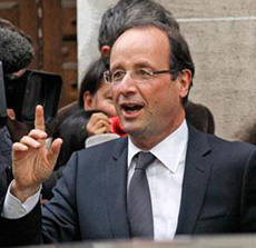 President-elect François Hollande (file photo)