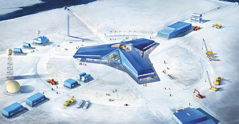 An artists impression of Koreas second base in Antarctica /Courtesy of the Ministry of Land, Transport, and Maritime Affairs