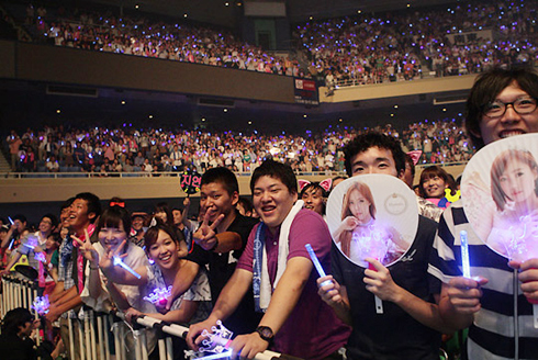 Fans enjoy a T-ara concert in Tokyo on Wednesday. /Courtesy of Core Contents Media