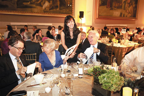 Guests enjoy Korean cuisine at an event promoting Korean culture at the Victory and Albert Museum in London on Monday. /Courtesy of CJ Foodville
