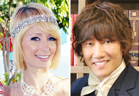 Paris Hilton (left) and Kim Jang-hoon