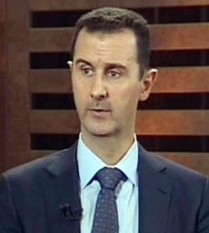 A grab from Addounia pro-regime Syrian TV shows Syrian President Bashar al-Assad speaking during an excerpt of an interview in Damascus on Aug. 29, 2012. /AFP
