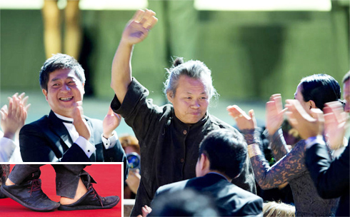 Director Kim Ki-duk reacts as his film