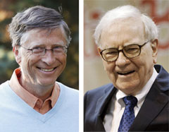Bill Gates (left) and Warren Buffett